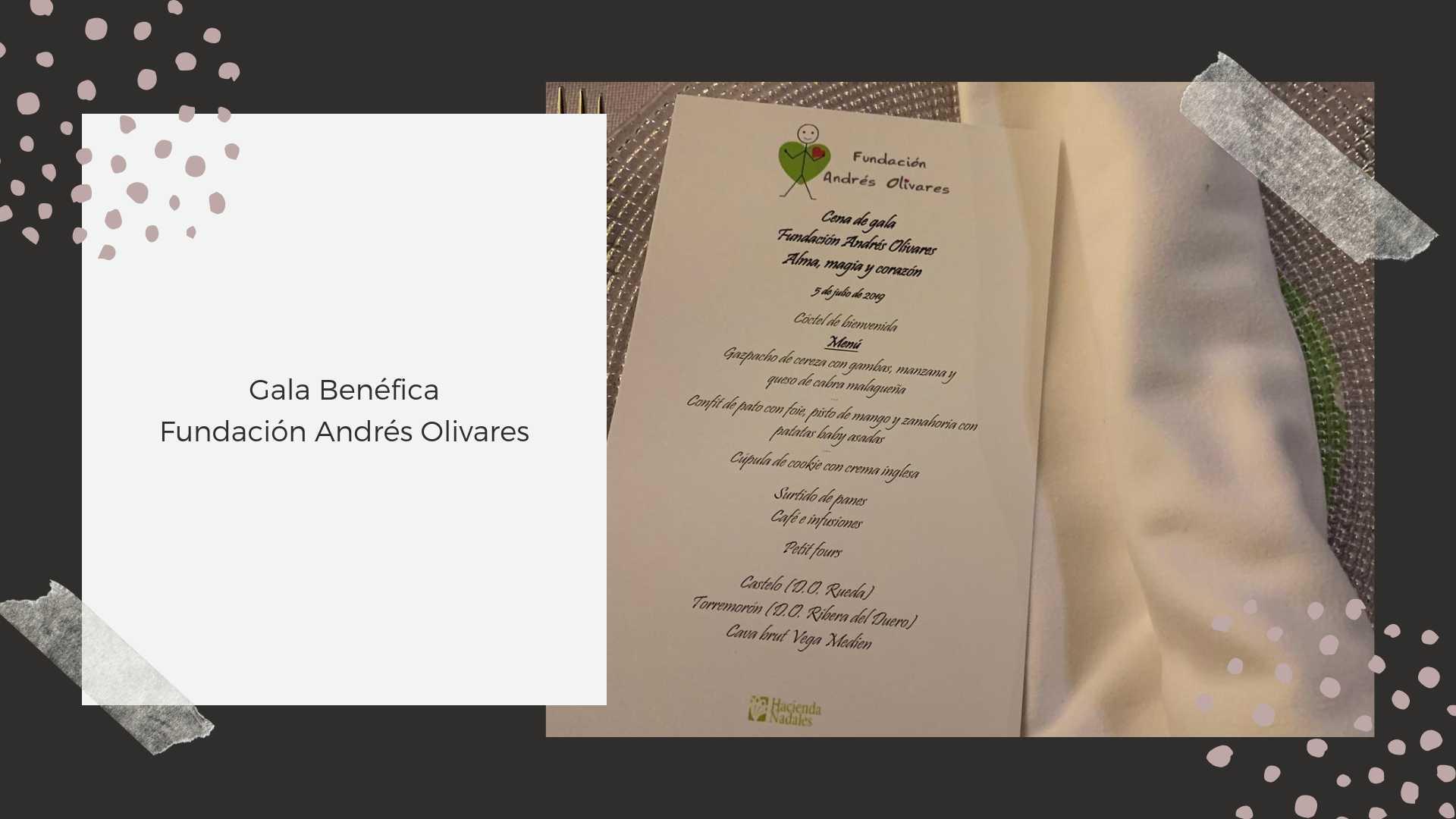 Gala benéfica Fundación Andrés Olivares