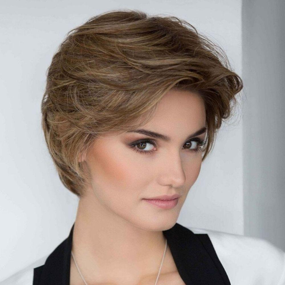 Allure Peluca oncológica de cabello mezcla natural y fibra