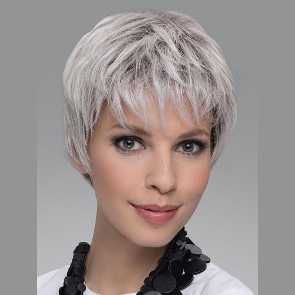 Encore Peluca oncológica de cabello mezcla natural y fibra