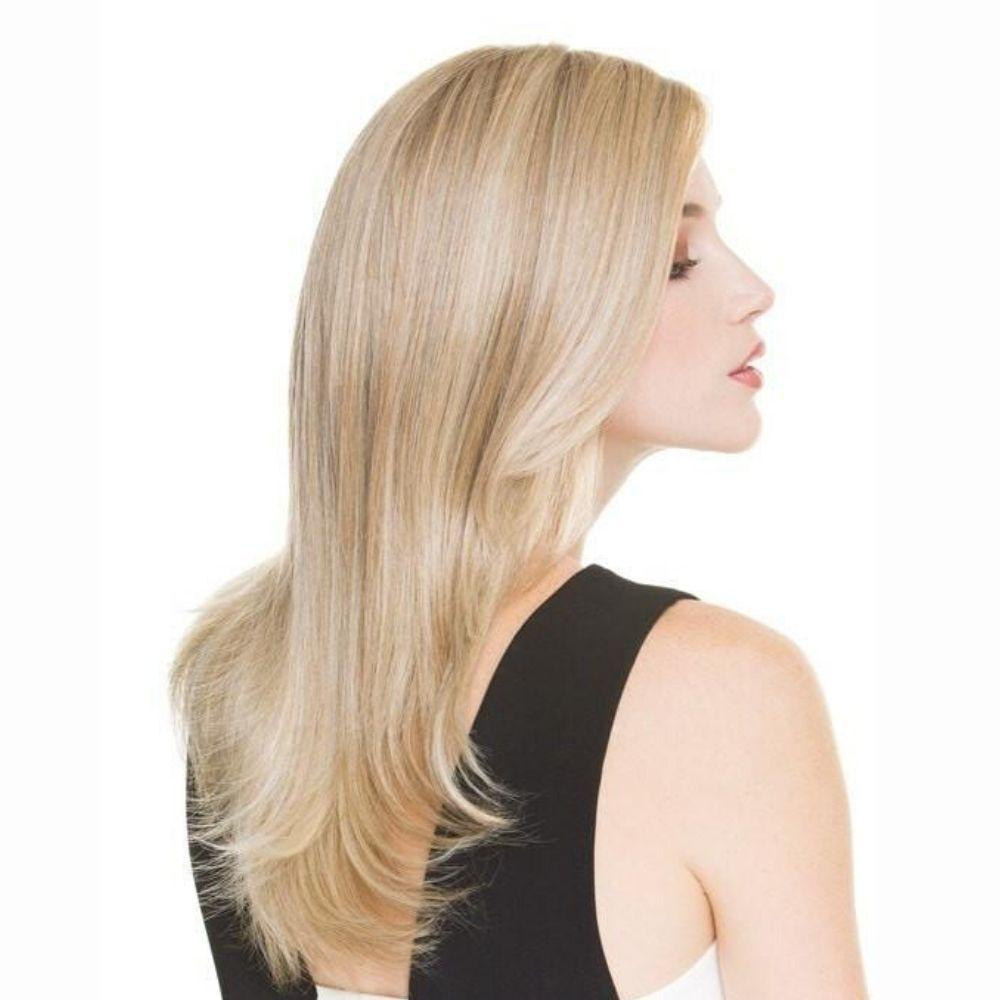 Illusion Peluca oncológica de cabello mezcla natural y fibra